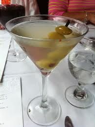 Ice cold extra dirty martini