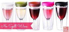 Combining a sippy cup with an unbreakable wine glass, Vino2Go is another great wine glass option for anyone with an active lifestyle!