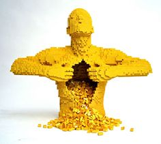 incredible LEGO man, whose busy innards are....LEGOs