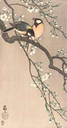 ixxi beeldenbank rijksmuseum kunst koolmezen op bloesemt ohara koson