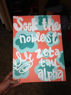 zeta painted canvas for big/little week