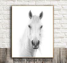 Equestrian Print, Horse Art, Minimalist Art, Grey Print, Animal Nature Print, Printable Download, Kids Wall Print, Horse Decor, Animal Art