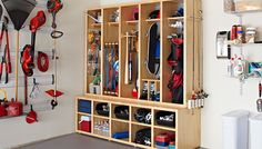 DIY Family Storage Center: Build this modular wood locker system for personal storage for everyone in the family.