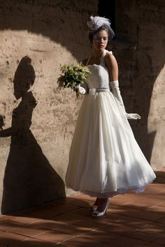 1950s Wedding Dress 'MIRA' by AmyJoTatumBridal on Etsy