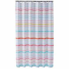 Jumping Beans In The Air Striped Shower Curtain HOT AIR BALLOON THEME