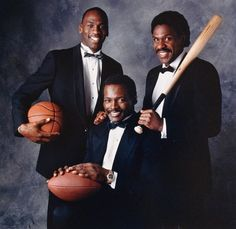 Michael Jordan, Walter Payton, and Andre Dawson. Chicago's greatest.... minus Mark Grace & Ryne Sandbert, of Course!!!!