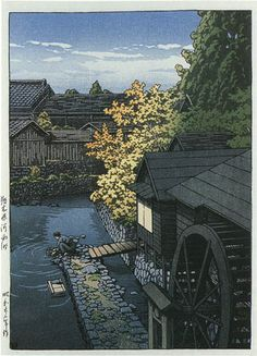 Kawanishi, Tochigi by Kawase Hasui, 1947  (published by Watanabe Shozaburo)