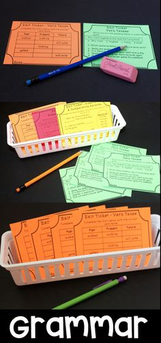 Grammar Exit tickets covering common core grammar skills with parts of speech and much more! Love these for quick and easy assessments and making planning small groups quick!