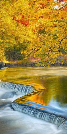 Autumn at Bond Falls, Michigan