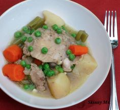 Slow Cooker Chicken Stew - healthy and hearty, a great meal for the family!