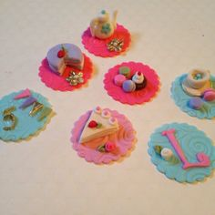 NEWTea Party Edible Cupcake Toppers by SweetPrincesses2 on Etsy