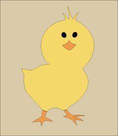 Baby Chick Stencil | ... Topper STENCIL~Easter Chick~Farm Barn Poultry Chicken Hen Bird Peeps