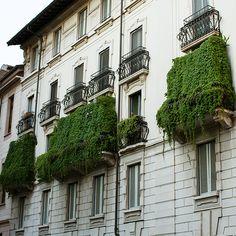 #Milan #Italy Green Balconies #apartments MilanItalyRentals.com