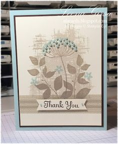 Thank you card featuring the Summer Silhouettes stamp set with sentiment from Best of Greetings (retired)