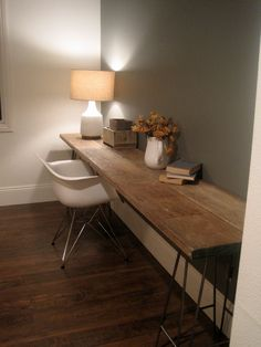 Reclaimed Wood Extended Craft Desk by houseinhabit on Etsy. $800.00, via Etsy.