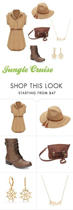 """Jungle Cruise Disney Bound"" by disney-nerd-designs ❤ liked on Polyvore featuring Scala, American Rag Cie, NOVICA, Bling Jewelry and Kate Spade"