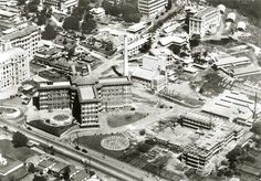 Aerial photo of the Royal Womens Hospital in Brisbane in Queensland in 1950.