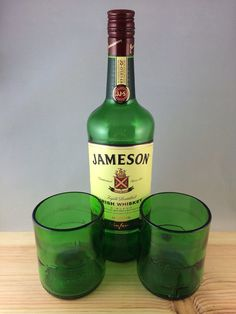 Jameson Irish Whiskey bottle Short Rocks Glass (Set of 2) on Etsy, $20.00