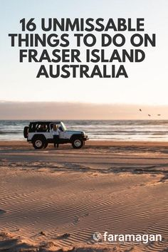 A roadtrip of Fraser Island should be number one on your Australia bucketlist! This guide covers the best things to do on Fraser Island including whale watching, fraser island shipwrecks, champagne pools, camping, sunsets spots and more! Fraser Island Australia, Time In Australia, Australia Honeymoon, Australia Travel, City Of Adelaide, New Zealand Travel, The Dunes, Whale Watching, Great Barrier Reef