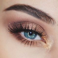 Touch of gold. Shop our eye shadows here > http://bit.ly/1mWMQn4