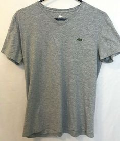 c5466ae2 Lacoste Women's size 4 Med Pima Cotton V-Neck Soft Tee Shirt Top  Lightweight c69