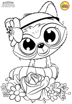 Cuties Coloring Pages for Kids – Free Preschool Printables – Slatkice Bojanke – Cute Animal Coloring Books by BonTon TV Free Kids Coloring Pages, Free Printable Coloring Sheets, Coloring Sheets For Kids, Animal Coloring Pages, Coloring Book Pages, Free Preschool, Preschool Printables, Happy Paintings, Cute Animals