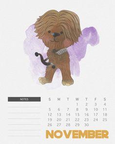 Calendário Star Wars para você imprimir   Nerd Pai