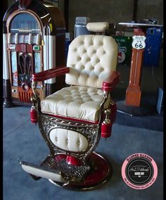 Now THAT is a barber's chair!