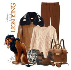 """""""The Lion King-Scar"""" by dgia ❤ liked on Polyvore featuring Uniqlo, Balenciaga, Gucci, Mulberry, Keen Footwear and Anna-Karin Karlsson"""