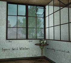 Square grid windows by pocci