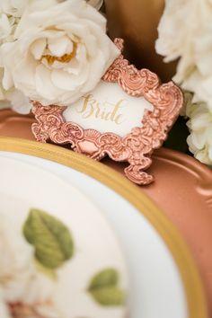 rose gold placeholder | segnaposto rosa dorato | Rose gold inspiration shoot | Pale autumn wedding | Autunno romantico http://theproposalwedding.blogspot.it/ #autumn #wedding #fall #rose gold #gold #pink #romantic #matrimonio #autunno