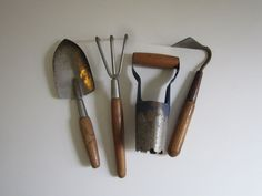 Vintage Gardening Tools by 20thCenturyGoods on Etsy, $26.00
