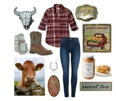 """Country Style"" by thorntonangel on Polyvore featuring Hollister Co., Pieces, Ariat, DutchCrafters, Allurez, Mud Pie and country"