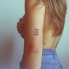 Lovely photo by @runaroundsuee of her Self Love Club tattoo! ✨CLUB RULES ✨You must always show yourself respect, love, forgiveness and understanding. You must show each other respect, love, forgiveness and understanding. You must be kind to your body, and you must take care of your mental health. ✨ Frances Cannon
