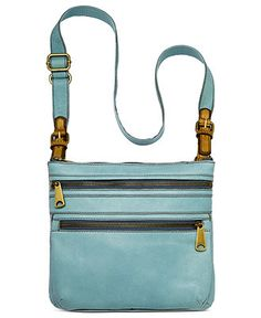 I bought this today! Matched my turquoise jewelry, cowboy boots and my ipad fits inside. Fossil Handbag, Explorer Leather Crossbody - Fossil - Handbags & Accessories - Macy's