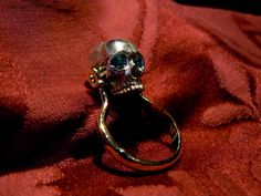 Hebi Seishin movable skull ring in gold and silver Dogale jewellery Venice Italy hand made jewels