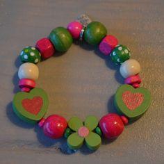 Armbandje groen/roze/wit | Welkom op Mirries.nl