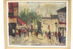 Impressionist Ölgemälde Paris Signiert