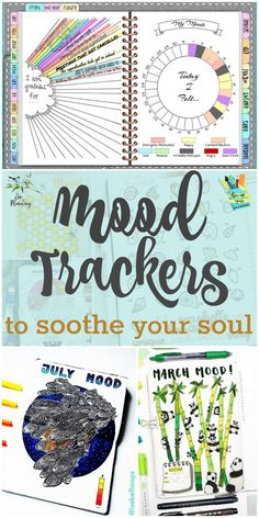 Use a mood tracker to keep track of what makes you happy, identify triggers, and find gratitude - perfect for your bullet journal or planner. Bullet Journal Font, Bullet Journal Tracker, Bullet Journal Spread, Bullet Journals, Art Journals, Wreck This Journal, My Journal, Journal Cards, Journal Prompts