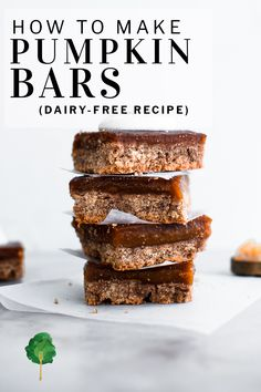 It's nice to have a wholesome and healthy(ish) treat you can rely on. That's where these super simple coconut pumpkin bars are a sure win. They're easy to make and have a fantastic rich flavor spiked with cinnamon, ginger, and nutmeg. | #sodelicious #dairyfree