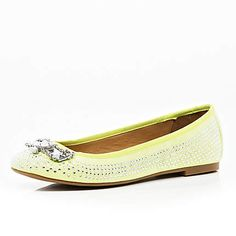 Green jewel embellished ballet pumps £28.00