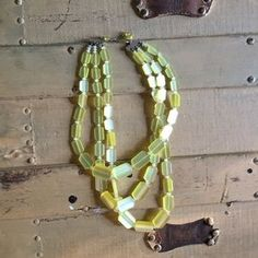 Urban Outfitters Jewelry - BOHO VINTAGE LEMON GEO ETHEREAL BEADED NECKLACE
