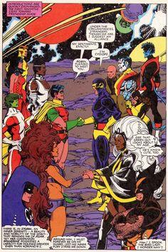 The Teen Titans meet the X-Men. Art by Walter Simonson, 1982.