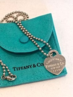 Return to Tiffany heart shaped pendant on bead chain, Tiffany pendant, Tiffany and Co, Tiffany silver necklace, vintage jewelry, by TwoSwansSwimming on Etsy
