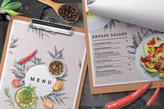 Ad: Restaurant Menu by BigWeek on Restaurant Menu Template --- - Size: mm with 3 mm bleed) + Us Letter with bleed - Mode: CMYK - Files included: 8 Menu Restaurant, Restaurant Menu Template, Cafe Menu, Flyer Design Templates, Flyer Template, Leaflet Template, Template Brochure, Food Menu Template, Menu Templates