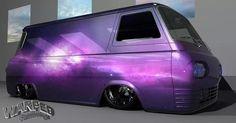 Custom VANS natural BABES & other bad ass transportation. Mini Trucks, Gmc Trucks, Cool Trucks, Dodge Van, Chevy Van, Customised Vans, Custom Vans, Best Classic Cars, Classic Trucks