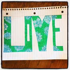 Day 91 - #100HappyDays - this fun love sign my daughter made for me makes me happy. Thanks @riley__anna ! #keepcreating #livingacreativelife #lovemydaughter #cre8time #creativeplay
