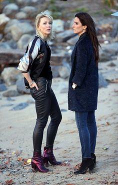 Cate Blanchett and Sandra Bullock Ocean's Eight filming November 16,2016