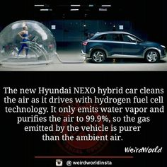 Exhaust air by Car is purer than Air Used Car Prices, New Hyundai, Compare Cars, Automotive News, Used Cars, Science, Technology, Pure Products, Vehicles