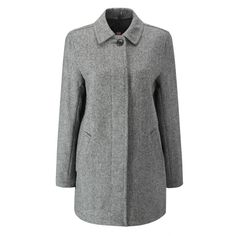 Women's Casual Herringbone Overcoat